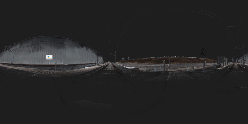 360deg panorama of a section of railway
