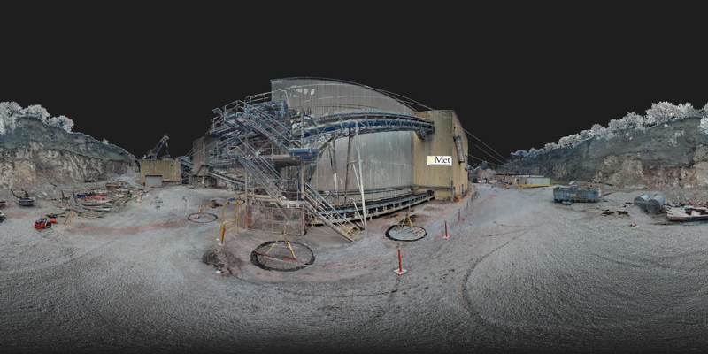 3D Panorama of a quarry