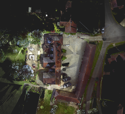 An orthophoto generated from a laserscan